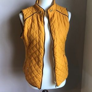 NWOT Mustard Quilted Vest